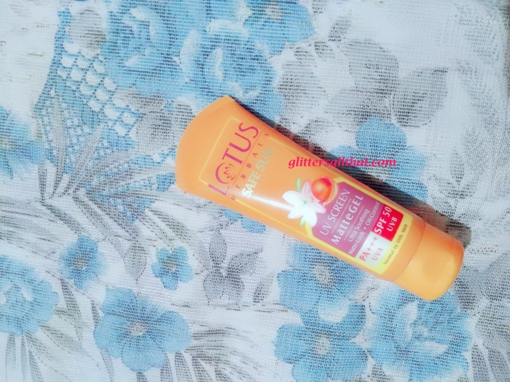 Lotus Herbals Safe Sun Uv Screen Matte Gel Pa+++ Spf – 50
